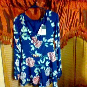GUESS COSMIC FLORAL DEEP INK LS JEWELL ROMPER..S
